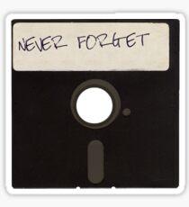 Never Forget Computer Floppy Disks Sticker