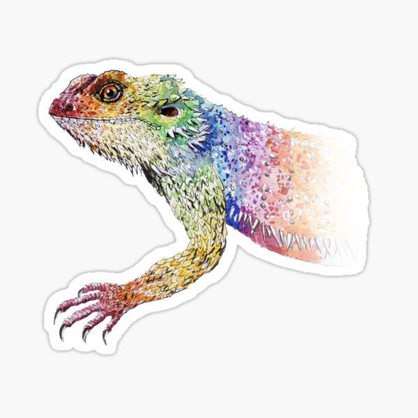 bearded dragon rainbow Mix Sticker