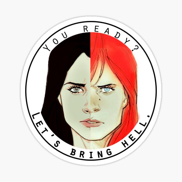 natasha and laura Sticker