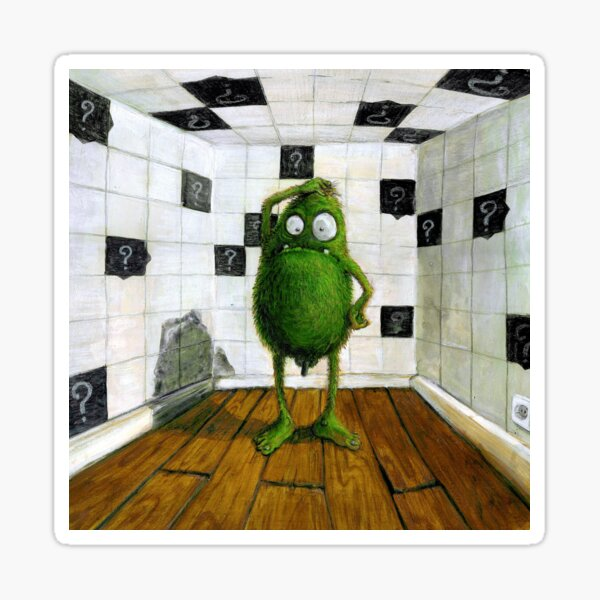"""You are haphazard !? ...What should I say?""""  This illustration was created using acrylic paints & polychromos Sticker"""