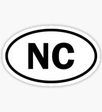 North Carolina - NC - oval sticker and more Sticker