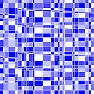 Mod Gingham - Blue - Repeating Pattern by Autumn Musick
