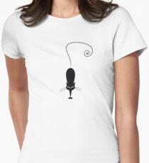 Black cat silhouette Womens Fitted T-Shirt