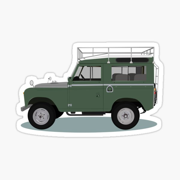 Powered By Mud 4x4 Funny JEEP Land Rover Sticker Decal