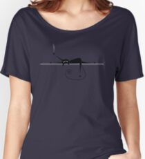 Relax. Black cat silhouette Women's Relaxed Fit T-Shirt