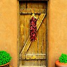 Chili Peppers on the Door by R. Mike Jacobson