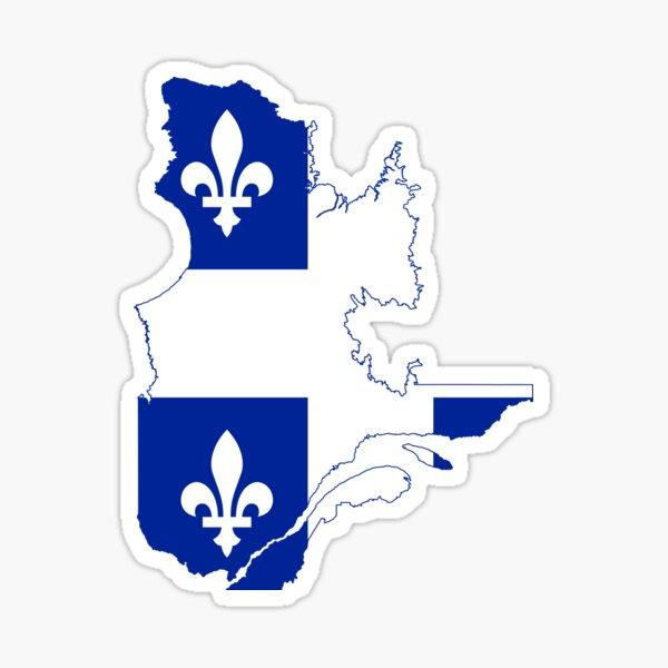 Carte du drapeau du Québec Sticker