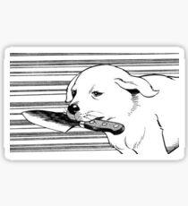 Knife Dog Sticker