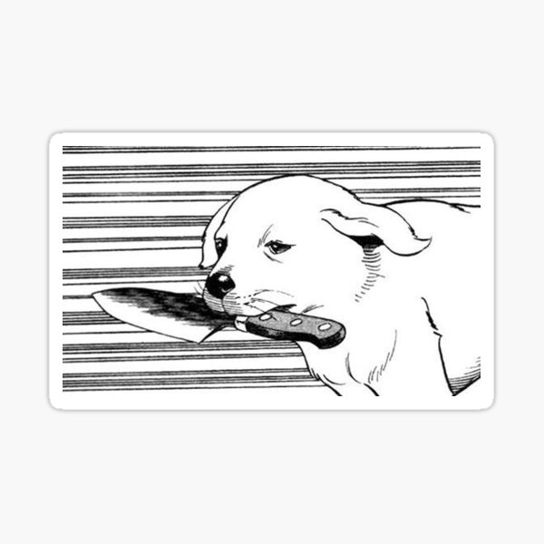 Knife Dog Sticker