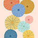 Colorful Sea Urchins 2 by latheandquill