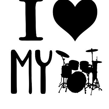 I Love My Drums and Drummer - Marching Band T Shirt by greatshirts