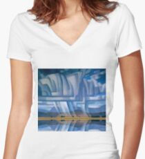 Beautiful Storm Women's Fitted V-Neck T-Shirt