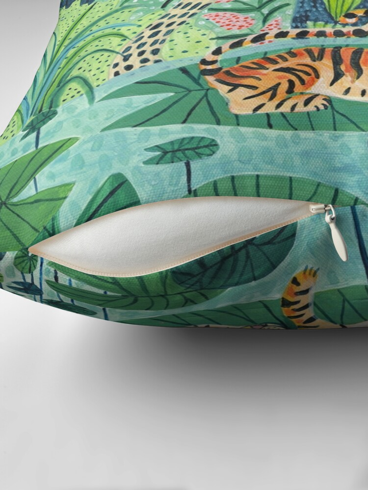 Alternate view of Jungle Tiger Throw Pillow