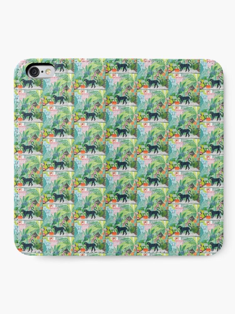 Alternative Ansicht von Dschungel Panther iPhone Flip-Case