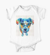 Colorful Little Dog Pop Art by Sharon Cummings Kids Clothes