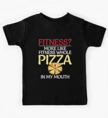 Whole Pizza In My Mouth Funny Humor Pizza  Kids T-Shirt