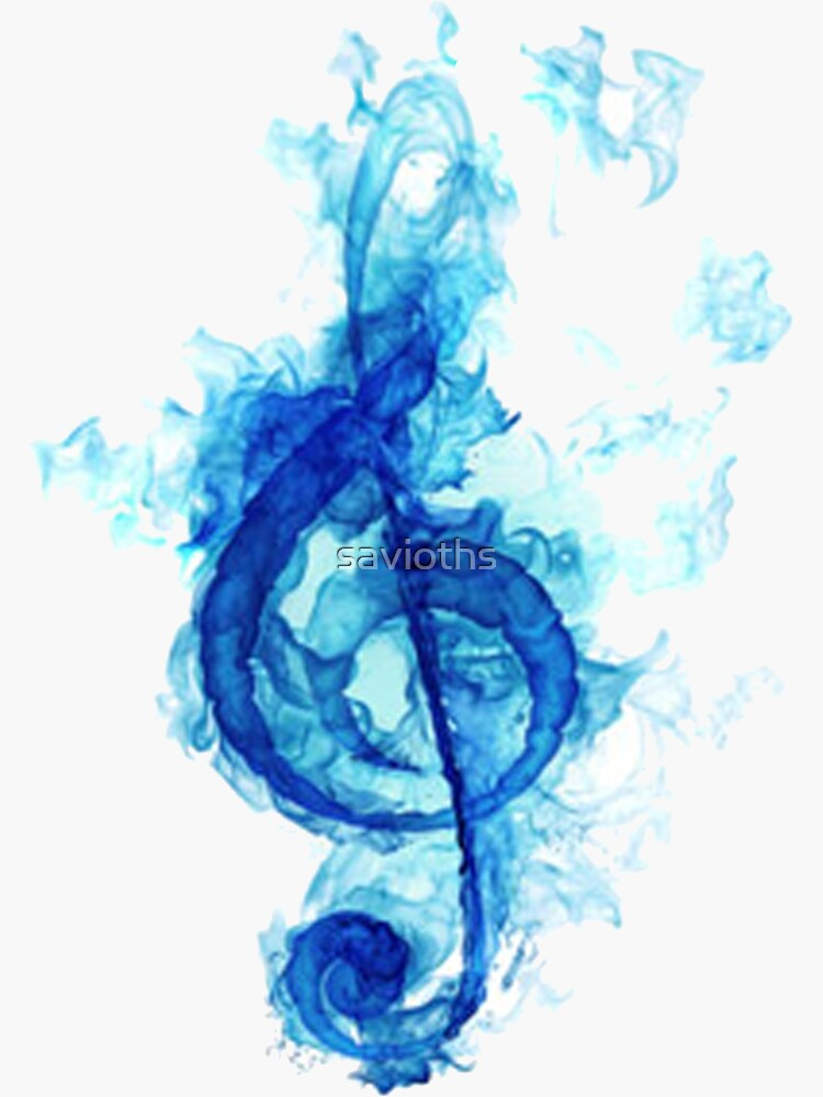 blue flaming note by savioths
