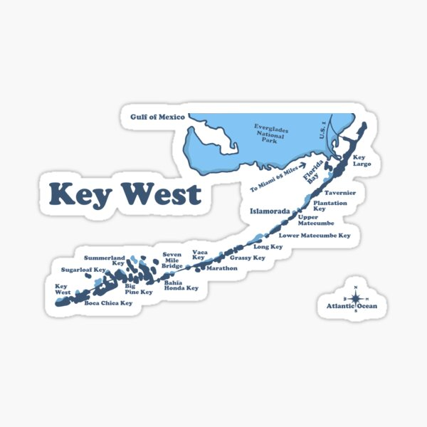 Perfect Patriotic Key West Gift Florida Keys Bumper Sticker WickedGoodz Oval American Flag Chicken Key West Vinyl Decal
