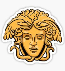 Versace Medusa - Artwork - Elegant Golden Aesthetic Sticker