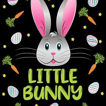 Easter Bunny Little Rabbit Egg Hunt Funny Bunny Face by ZNOVANNA