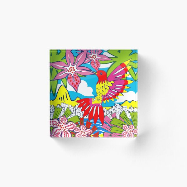 TROPICALIA by Tim Davies Acrylic Block