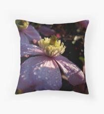 Clematis ( macro) Throw Pillow