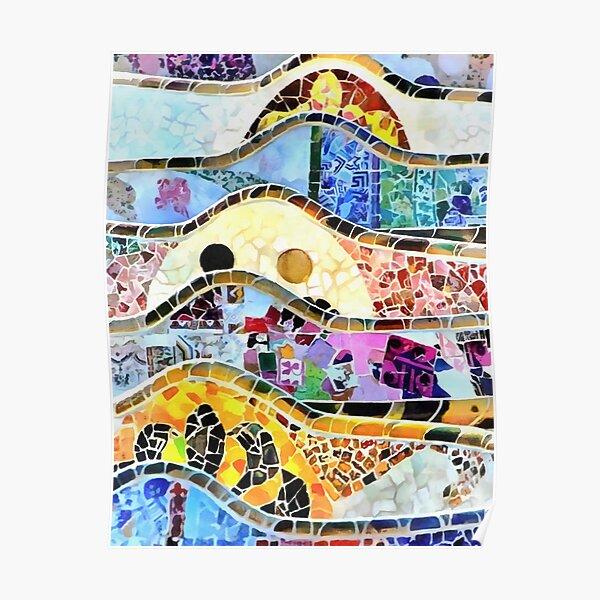 Gaudi Barselona mosaic Poster