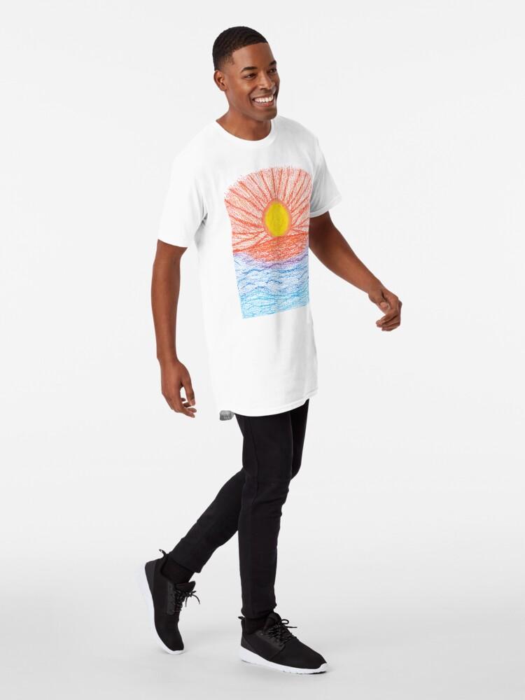 Alternate view of Merch #28 -- Sea Sunset Long T-Shirt