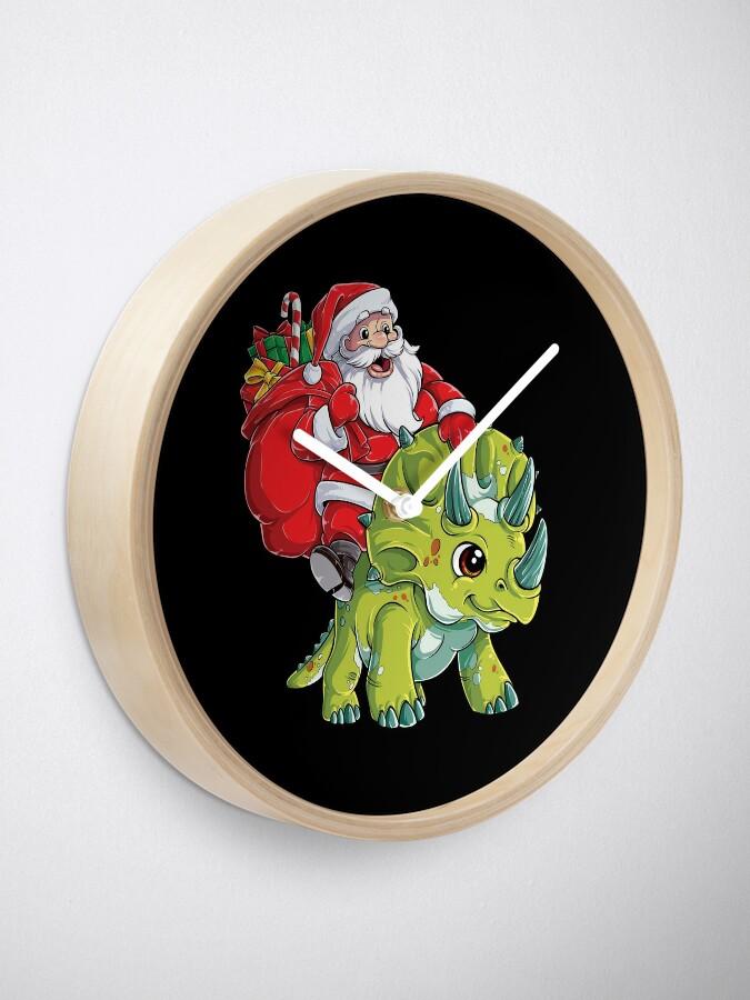 Alternative Ansicht von Weihnachtshemden für Jungen Santa Dinosaur Triceratops Gifts Uhr