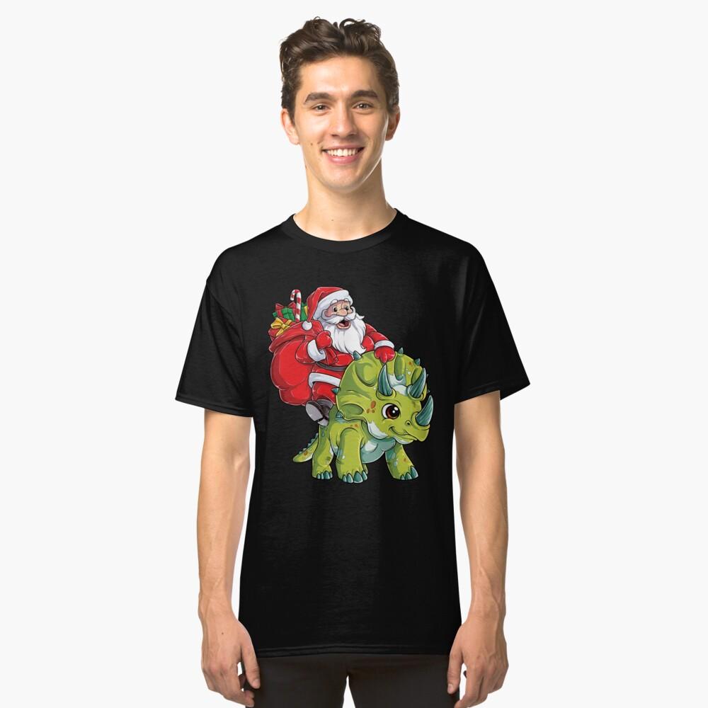 Weihnachtshemden für Jungen Santa Dinosaur Triceratops Gifts Classic T-Shirt