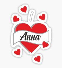 I Love Anna Glänzender Sticker