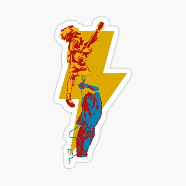 AC DC thunderbolt Pegatina