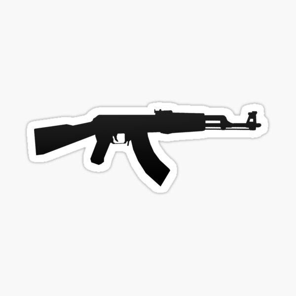 AK-47 BLACK LOGO Sticker