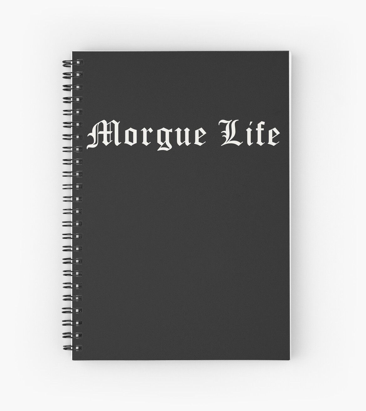 \'Morgue Life Mortuary Funeral Death Care Creepy Funny \' Spiral Notebook by  h44k0n