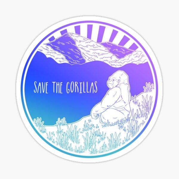 Save the Gorillas! Sticker