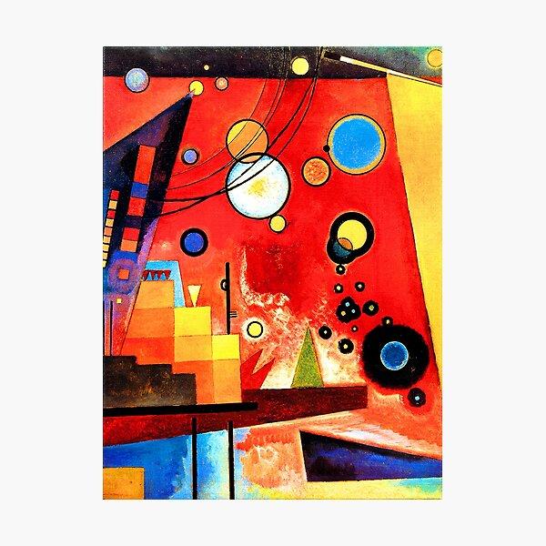 Wassily Kandinsky - Heavy Red Photographic Print