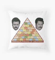 Swanson Pyramid of Greatness Throw Pillow