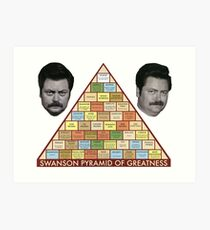 Swanson Pyramid of Greatness Art Print