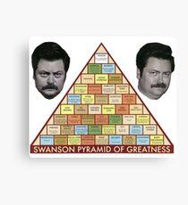 Swanson Pyramide der Größe Leinwanddruck