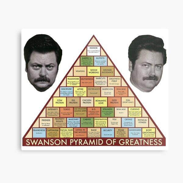 Swanson Pyramid of Greatness Metal Print