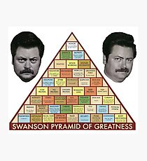 Swanson Pyramid of Greatness Photographic Print
