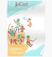 JoCat Ein Mist Guide zu D & D (Barbarischer Mönch) Poster Poster