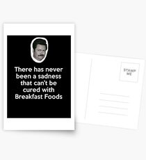 Sadness Cured with Breakfast Food Postcards