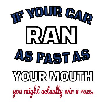 Race Track Dirt and Asphalt Funny Mouth by GabiBlaze