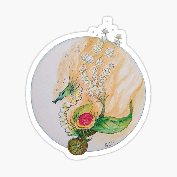 Blooming Green Tea Dragon - sticker Sticker
