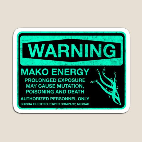 Sticker! Warning: Mako Energy Magnet