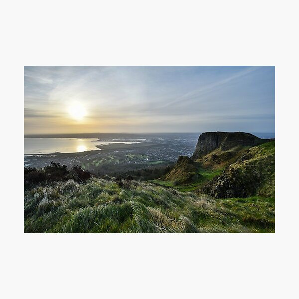 Sunrise Over Belfast from Cave Hill Photographic Print