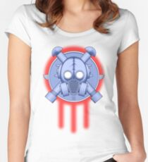 Art Deco Gasmask Trinity Women's Fitted Scoop T-Shirt