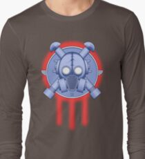 Art Deco Gasmask Trinity Long Sleeve T-Shirt