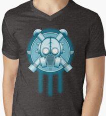 Art Deco Gasmask Trinity Mens V-Neck T-Shirt